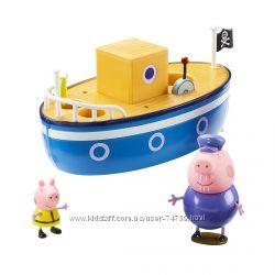 Игровой набор Peppa - Морское приключение - кораблик и 2 фигурки