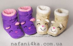 Тапочки детские домашние сапожки, флис и махра.