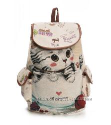 Стильный рюкзак с котенком.