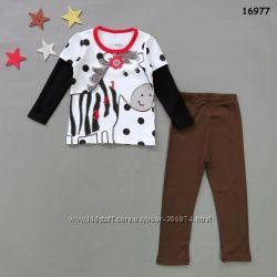Пижама Зебра для девочки от 2 до 7 лет