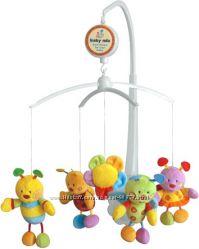 Музыкальная карусель, мобиль, мобайл на кроватку Baby Mix 5 игрушек