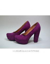 Шикарные новые туфли из замши фуксия размер 37