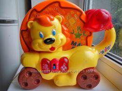 Joy Toy львёнок музыкальная обучающая каталка буквы формы цвет