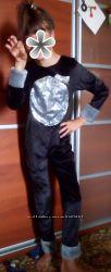 Комбинезон карнавальный на Новыйгод Хелоувин кошка пантера на 10-13 лет