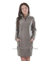 Теплое флисовое платье на зиму