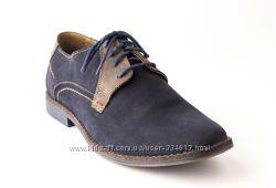 Модные синие туфли на шнурках MATEOS, Польша