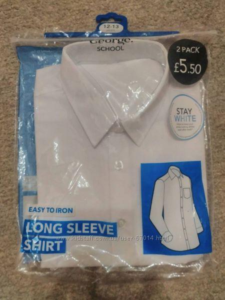 Біла сорочка George на 3-4 роки,  рубашка - Позняки