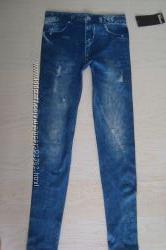 Леггинсы, лосины, имитирующие джинсы