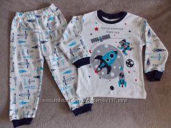 Пижамы от 1 года до 6 лет в наличии, хлопок, Турция