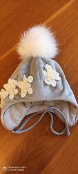 Зимняя шапка Туту на девочку