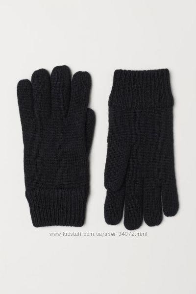 H&M Классные мужские перчатки на флисовой  подкладке размер L-XL