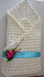 Плюшевое одеяло плед на выписку из роддома