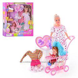 Кукла Defa 8049 беременная, с коляской, 2 вида . дефа типа барби