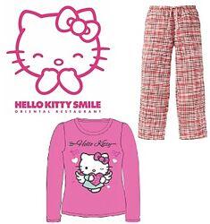 Домашний костюмчик пижама Hello Kitty с фланелькой Германия 122 128