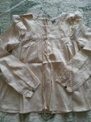 tape-a-loeil, нарядная бежевая блуза, 10лет, отличное состояние