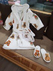 Набор детский халат с тапочками Maison Dor Tobi Junior Bathrobe