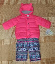 Зимний Комбинезон Carters 18 месяцев розовый