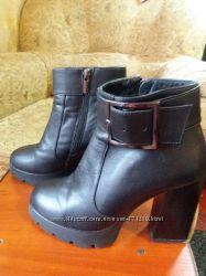 Кожаные ботинки, полусапоги демисезон 37р.