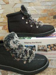 Утепленные ботинки на шнуровке bobs, 38-39
