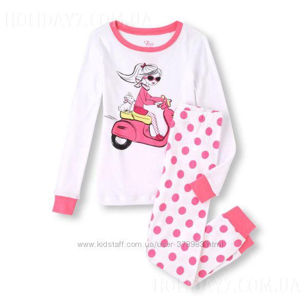 Пижамы хлопковая для девочки Children&acute s Place США возраст 3-4 года