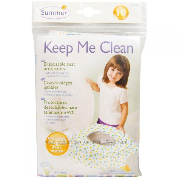 Summer Infant, Keep Me Clean, одноразовые салфетки для унитаза, 10  и 20 шт