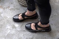 Кожаные туфли , балетки