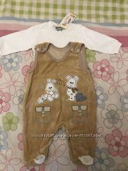 Нарядный велюровый костюмчик на мальчика и девочку до 6 мес.