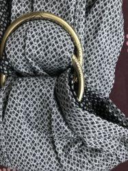 Слинг из натуральной ткани с кольцами