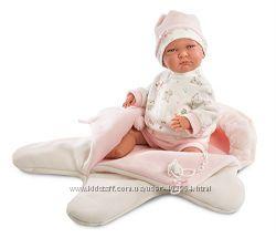 Испанская Кукла Llorens 74038 Лала со спальником 42 см