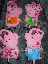 Свинка Пеппа пепа Peppa Pig Джордж папа Свин мама мягкая сумка игрушка
