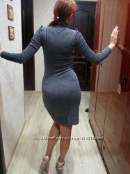 Сукня-футляр трикотажна французького бренду NafNaf, розмір ХS-S