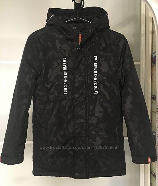 Куртка демисезонная удлинённая на мальчика 146 рост