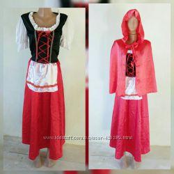 Карнавальное платье красная шапочка на взрослого S