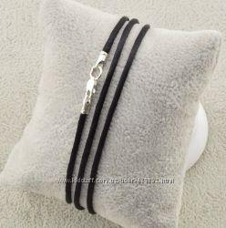 Шнурок жгутик серебряный шёлковый 4004