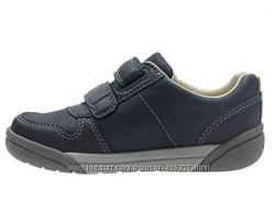 Кожаные мокасины-туфли-кроссовки с мигалками Clarks оригинал