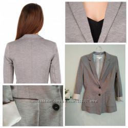 7c8b862aef33 Трикотажный пиджак H&M серо-бежевый меланж, 300 грн. Женские пиджаки ...