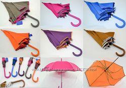 Женский зонт трость однотонный 8 спиц