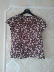 Размер 16 Красивая фирменная хлопковая блузка рубашка