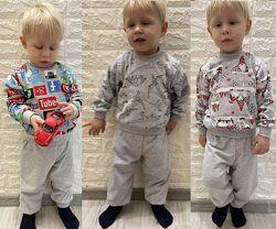 пижамы мальчикам и девочкам, хлопок 100