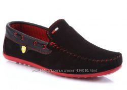 женские черные замшевые мокасины Shoes&Moda art. 203