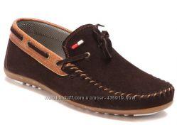 женские коричневые мокасины Shoes&Moda art. 204