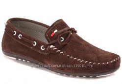 коричневые женские мокасины, замш Shoes&Moda art. 214