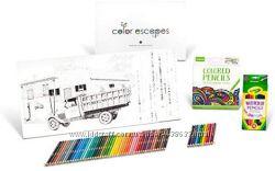 Crayola Color Escapes Coloring Pages & Pencil Kit, Americana Edition