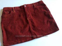 Фирменная юбка Gap jeans, 14, вильвет Бордо