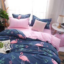 Постельное белье с фламинго