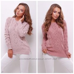 Красивий светр з фактурною вязкою з якісної мякої пряжі. 7467d0f49a6e2