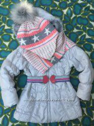 Курточка и комплект шапка шарф