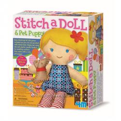 Набор для творчества Шитье Кукла со щенком 4М