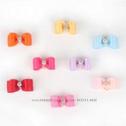 Новые красочные резиночки бантики для маленьких собак