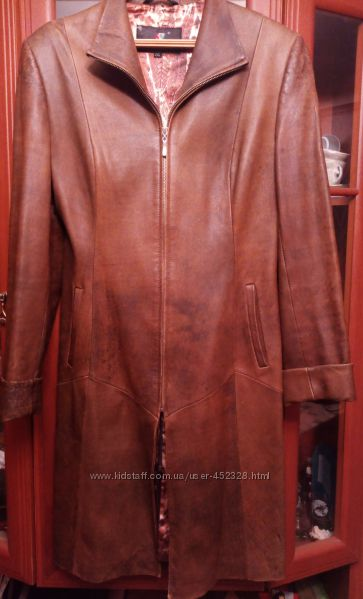 Пальто-кардиган р. 46-48 из кожзама